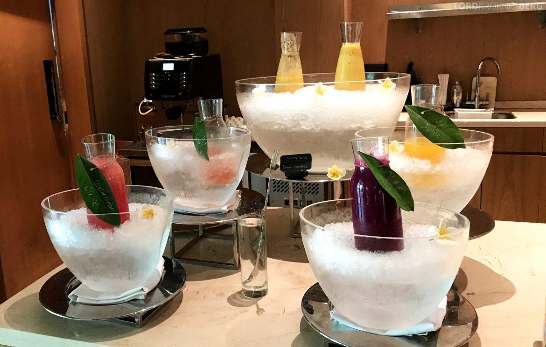 Ritz-Carlton Bali Club Lounge drikke frokost