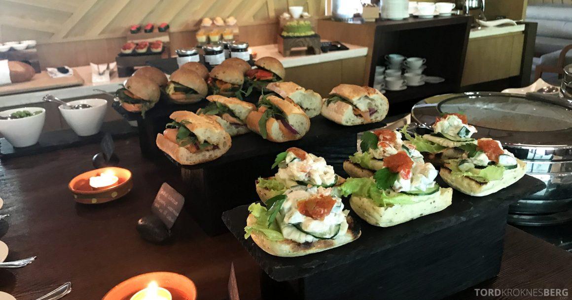 Ritz-Carlton Bali Club Lounge sandwich lunch