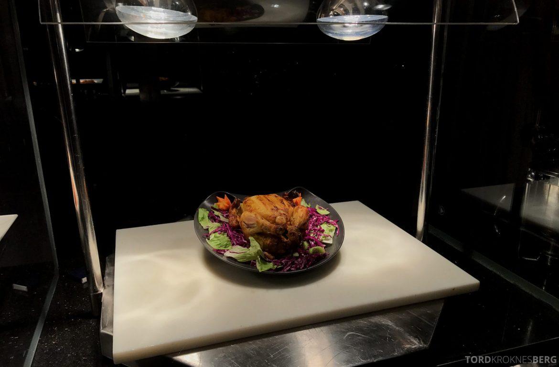 Ritz-Carlton Jakarta Club Lounge kylling hors d'oeuvre