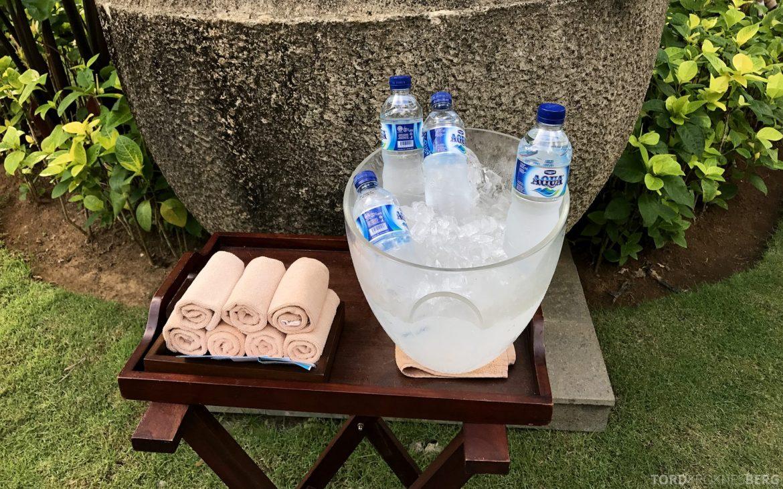 Ritz-Carlton Bali vann og håndklær