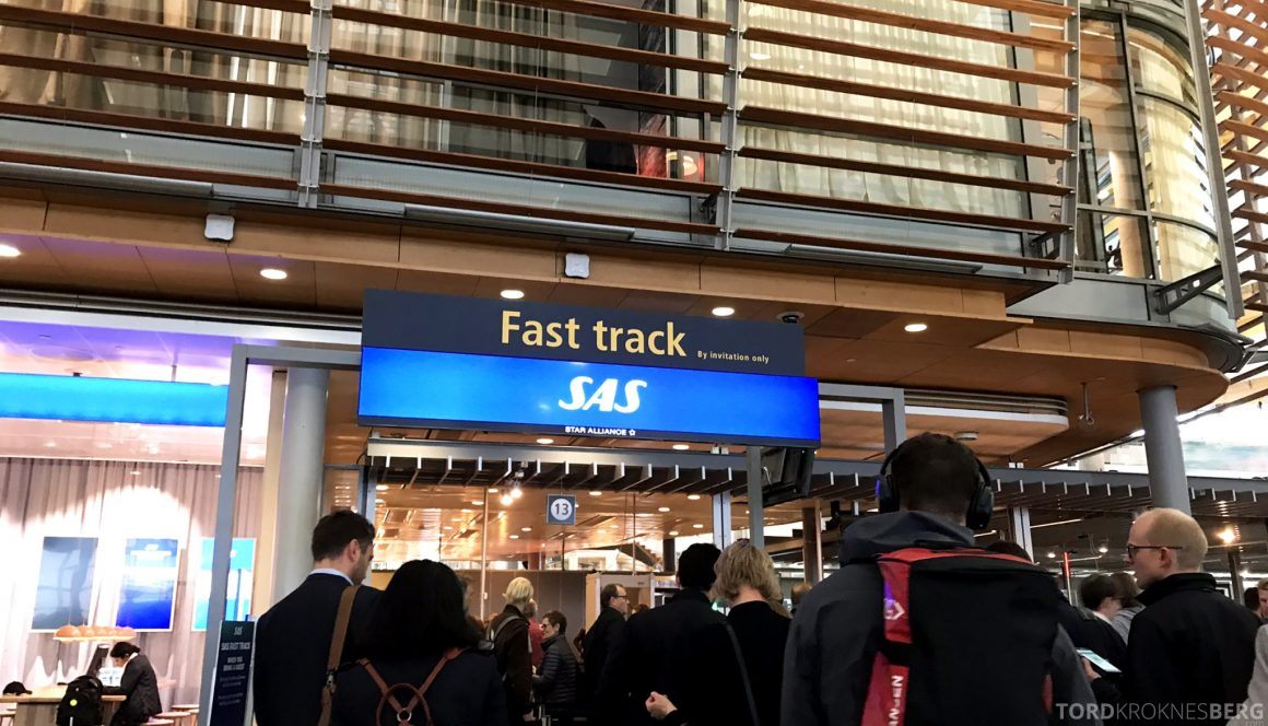 SAS Lounge Oslo Innland Fast Track