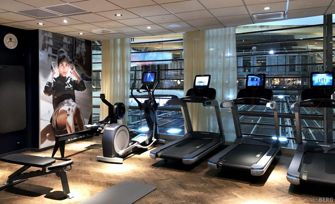SAS Lounge Oslo Innland treningssenter tredemølle