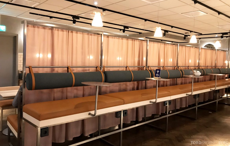 SAS Lounge Oslo Innland bak baren