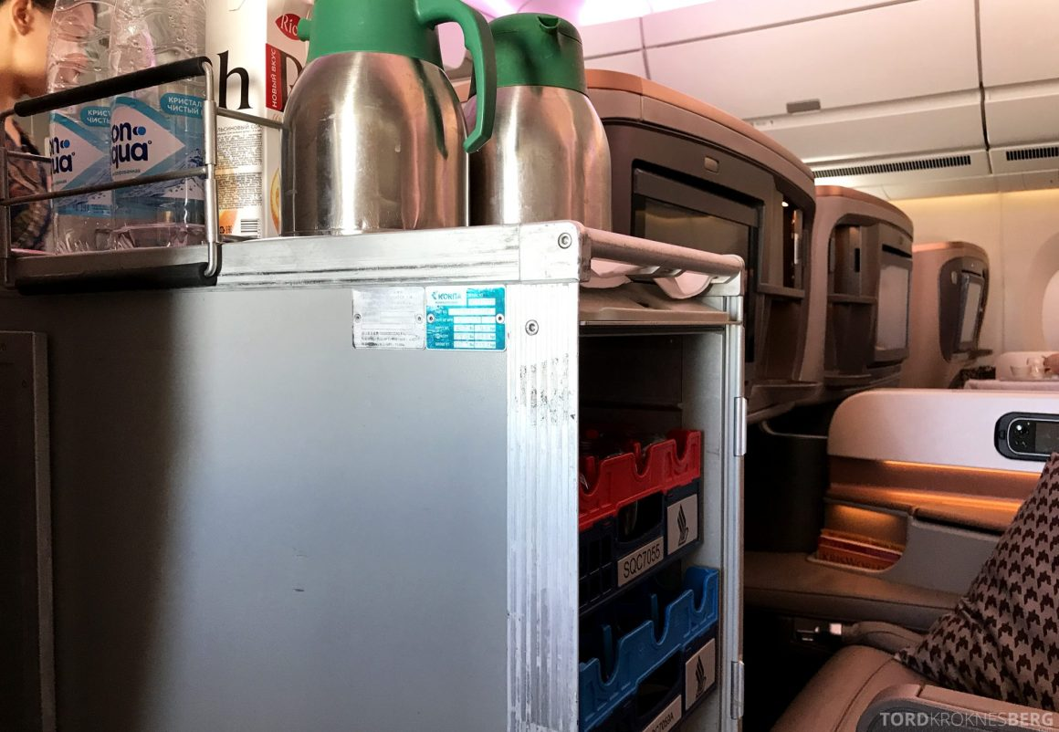 Singapore Airlines Business Class Moskva Stockholm tralle