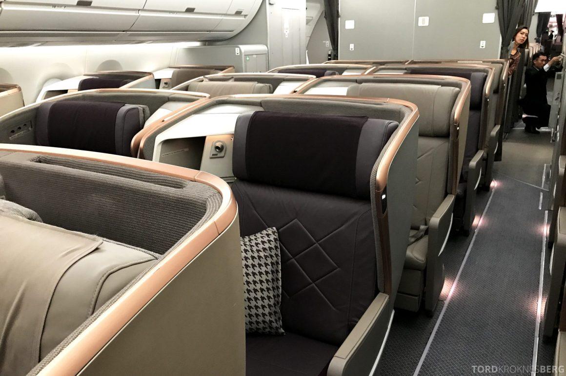 Singapore Airlines Business Class Moskva Stockholm sete