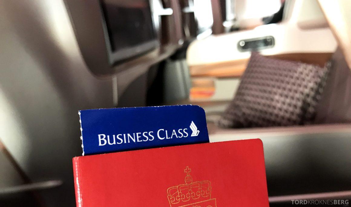 Singapore Airlines Business Class Moskva Stockholm billett