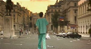 28 Days Later (2002) stars Cillian Murphy, Naomie Harris, Christopher Eccleston. Dir: Danny Boyle.