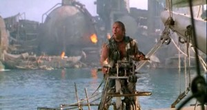 Waterworld (1995) stars Kevin Costner and Dennis Hopper. Dir: Kevin Reynolds