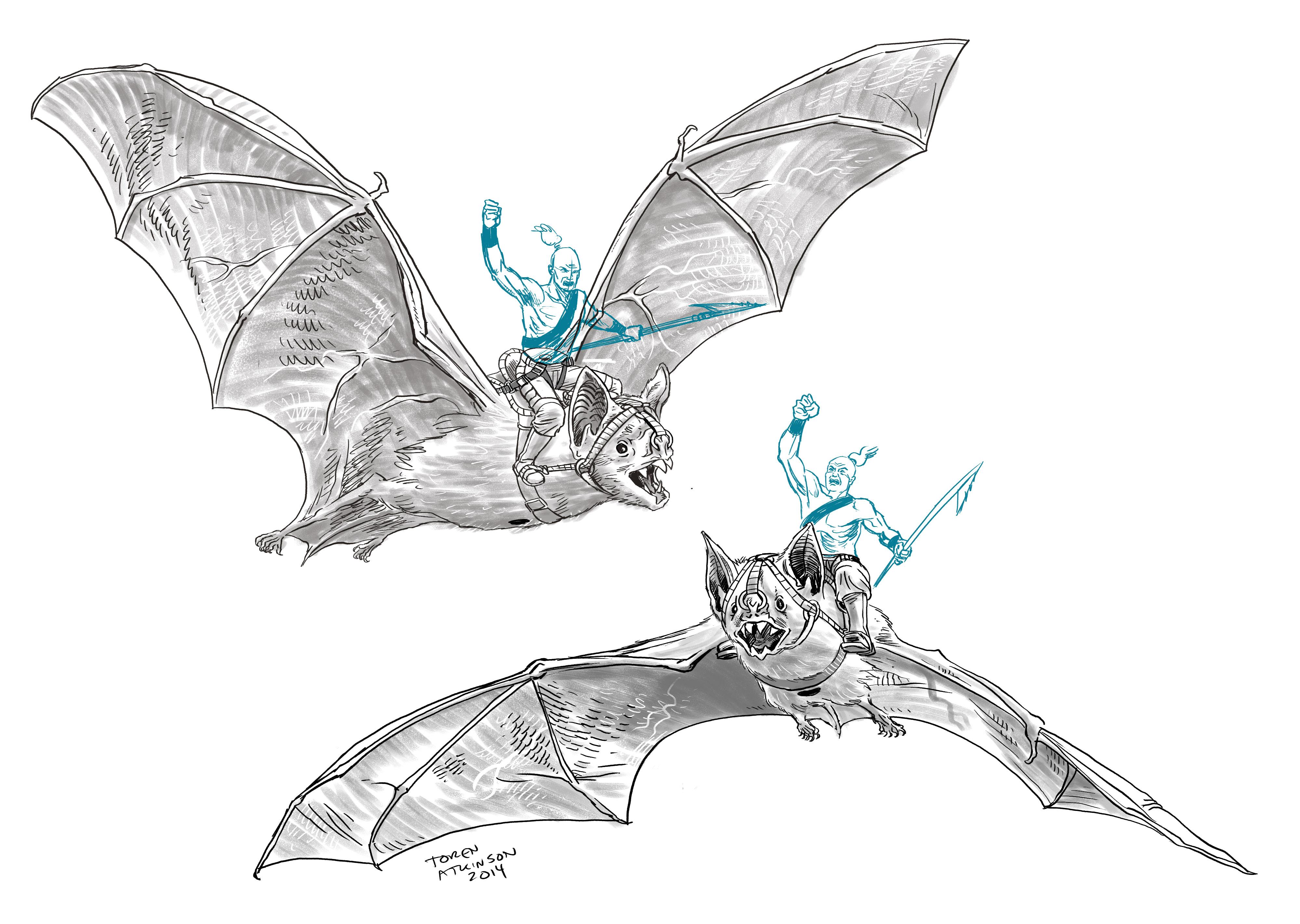 New Miniature Design: Bat-Rider – Toren Atkinson on