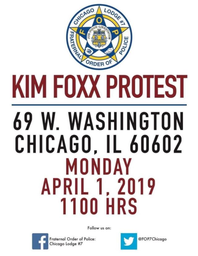 Protest Demanding Cook County State's Attorney Kim Foxx Resign Planned For Monday April 1st in Chicago