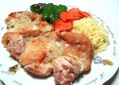 鶏モモのガーリックソテー