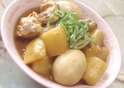 鶏モモと芋の甘辛煮