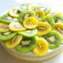 キウィのムースケーキ