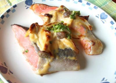 鮭の味噌マヨグリル