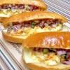 楽天レシピのススメ:彩りピクルスと卵サラダのコッペパン