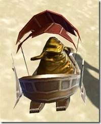 Model Red Hutt Barge - Back