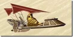 Model Red Hutt Barge - Side
