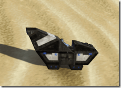 Model Experimental Sandcrawler Side