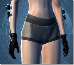 Blue Scalene Female Gauntlets