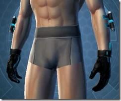 Blue Scalene Male Gauntlets