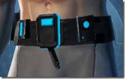 Blue Scalene Male Utility Belt