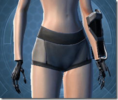 B-100 Cyberbetic Armor Female Gauntlets