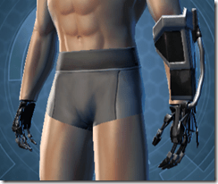 B-100 Cyberbetic Armor Male Gauntlets