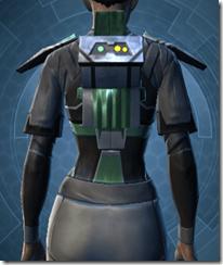 Oiled Jiguna Combat Jacket - Female Back