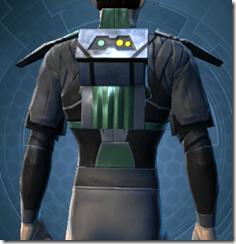Oiled Jiguna Combat Jacket - Male Back