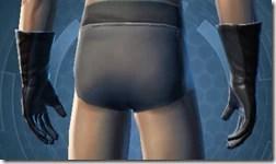 Plastiplate Gauntlets - Male Back