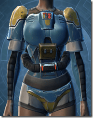 Refurbished Scrapyard Armor - Female Front