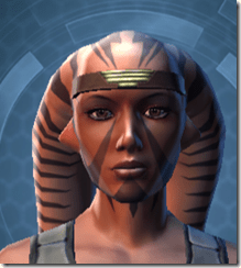 Indignation Headgear - Twi'lek Front