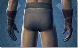 Trellised Gauntlets - Male Back