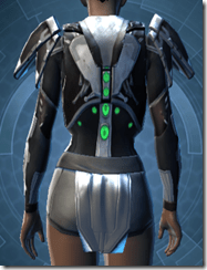 Reflection Fiber Body Armor - Female Back