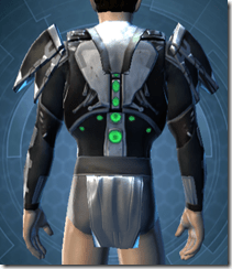 Reflection Fiber Body Armor - Male Back