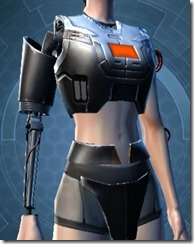 B-400 Cybernetic Female Breastplate