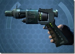 Decorated Targeter's Offhand Blaster MK-3 Left