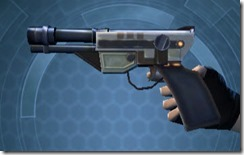 Requisitioned Boltblaster's Blaster Pistol MK-3 Left