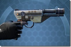 Requisitioned Boltblaster's Blaster Pistol MK-3 Right