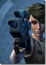 Transparisteel Permacrete Blaster Pistol Front