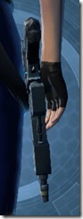 Transparisteel Permacrete Blaster Pistol Stowed