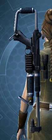 Knave's Quick-Handed Blaster Rifle Stowed