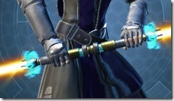 Righteous Mystic's Saberstaff Front