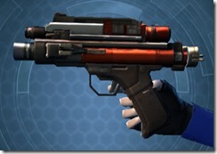 Sedrellium Onslaught Blaster Pistol Left