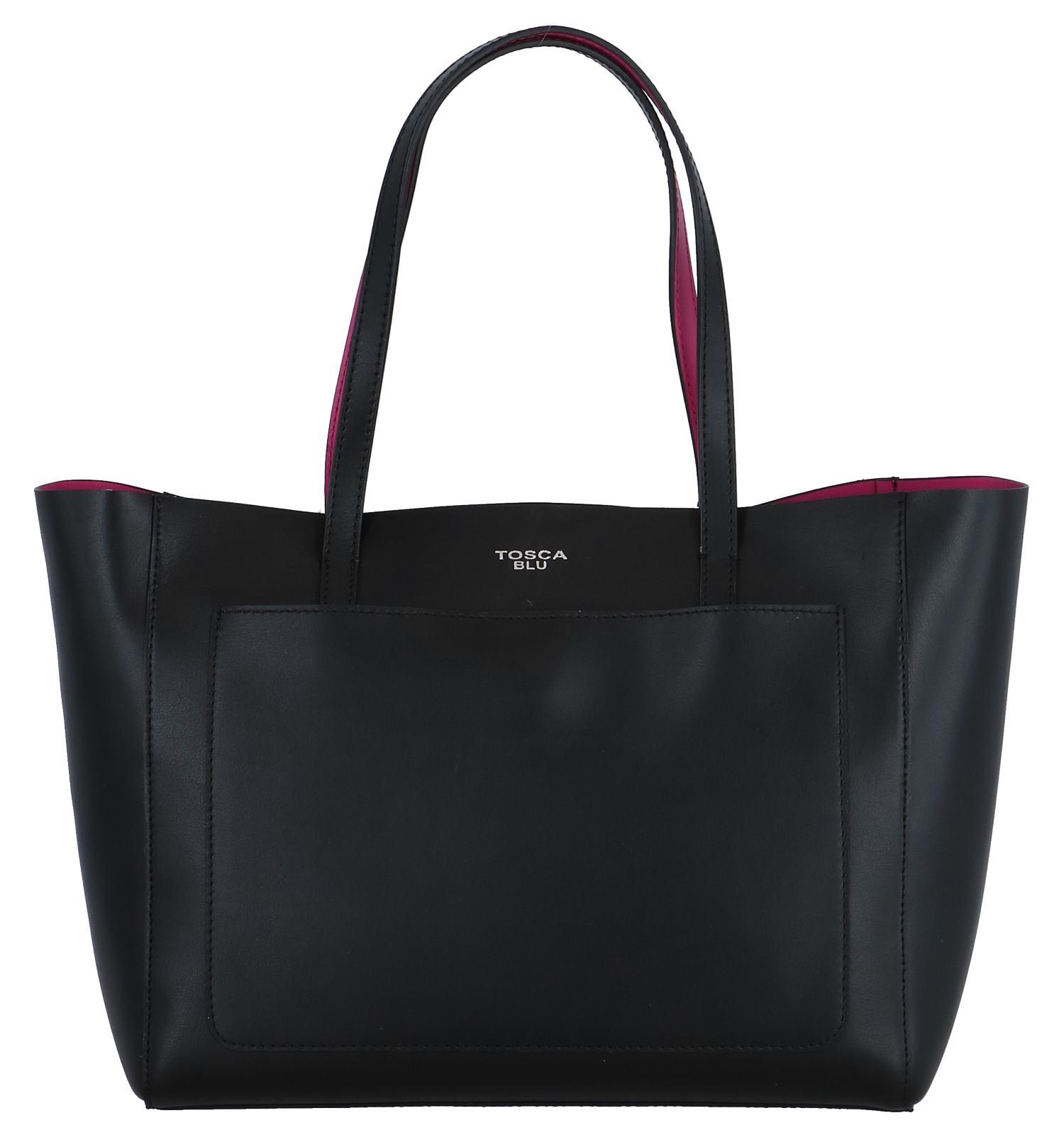 3a1d5ab7e15 Zwarte Tas   Black Front Pocket Slouch Bag