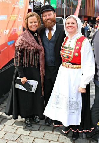 Sigrid Marthe Kleppevik, Trond Nesmann Berntsen og Lena Eikeland Kutschera mellom økter