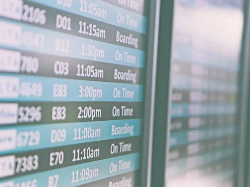 空港案内板