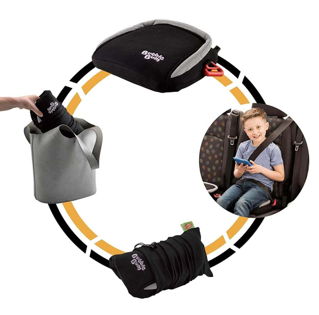 BubbleBum inflatable booster seat for travel