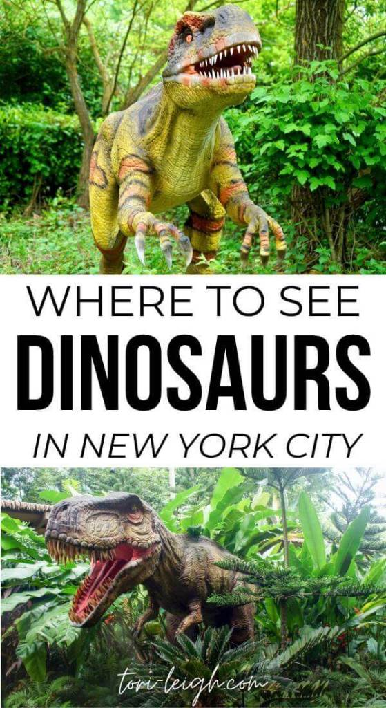 where to see dinosaur museums and exhibits in NYC