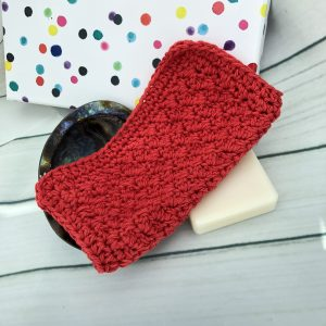 Red cotton wash cloth
